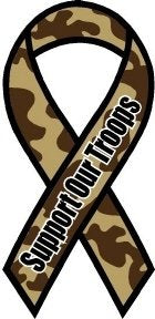 Support Our Troops camo magnet
