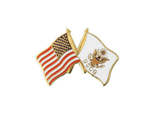 Coast Guard Crossed Flag pin