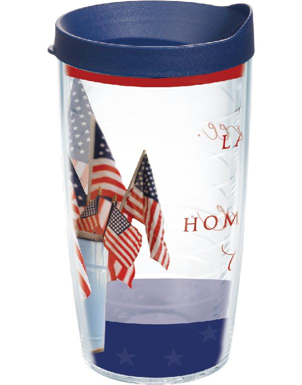 Home of the Brave 16 oz. Tervis with lid