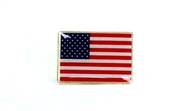 U.S. flag lapel pin (rectangle)