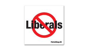 No Liberals sticker
