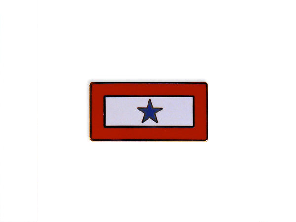 Blue Star Service lapel pin- horizontal