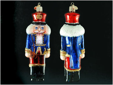 Soldier Nutcracker ornament-blue and red
