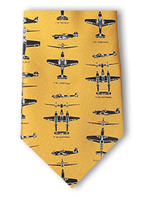 WWII Fighter Planes tie