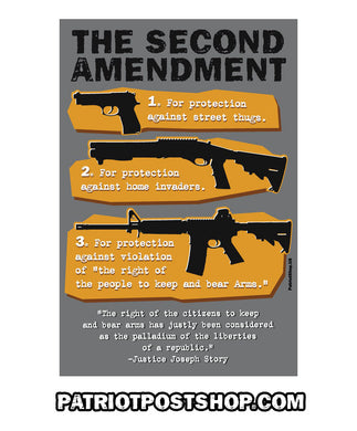 Second Amendment By The Numbers sticker