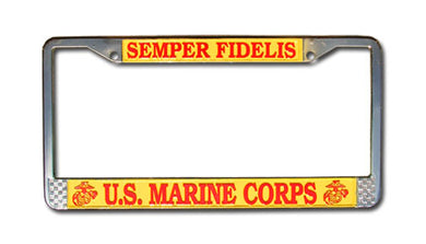 Marine license plate frame