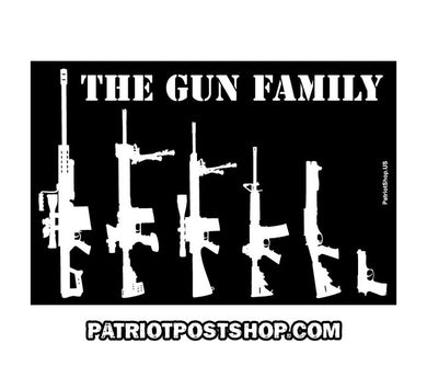The Gun Family sticker - black