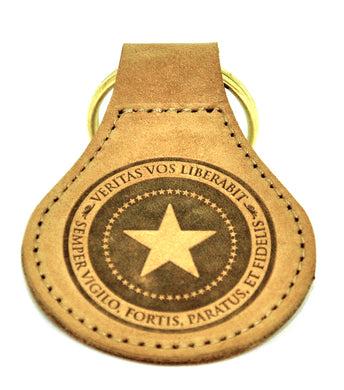 Patriot Post leather key fob - NuBuck