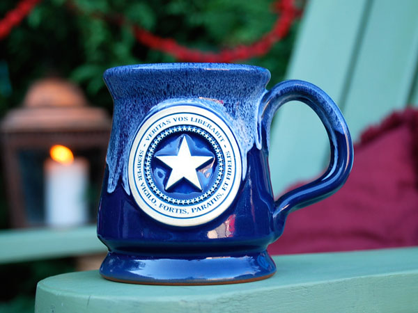 Patriot Seal pottery mug