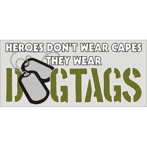 Heroes Wear Dogtags decal