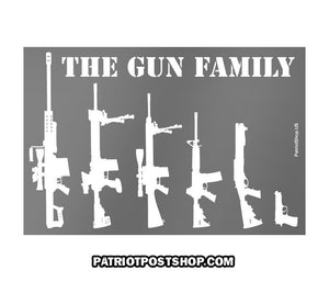 The Gun Family sticker - clear background