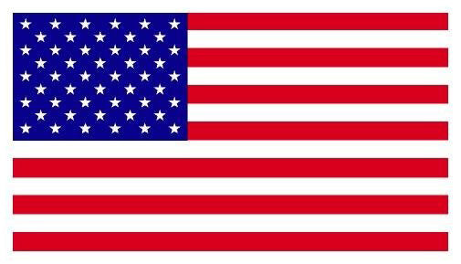 U.S. Flag magnet -rectangle