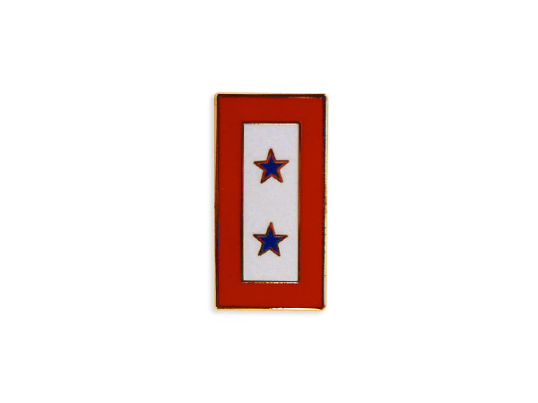 Blue Two Star Service lapel pin