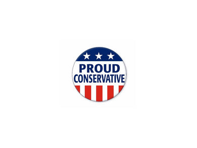 Proud Conservative button