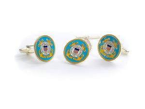 Coast Guard Tie Tack & Cufflink Set