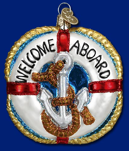 Welcome Aboard ornament