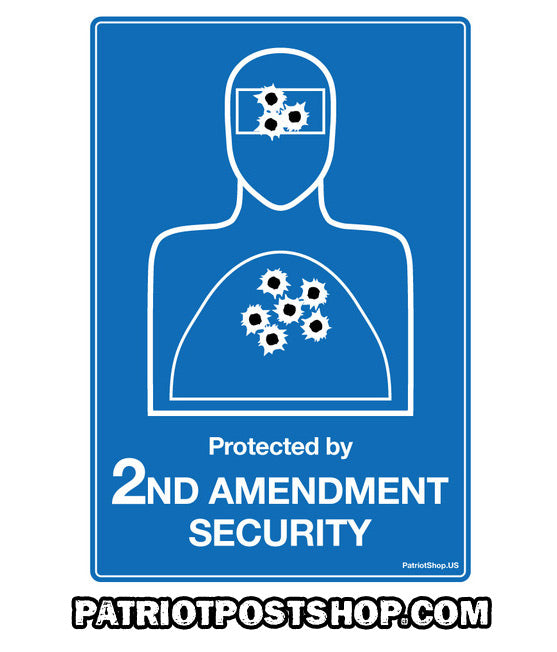Second Amendment Security Body Image yard-sign