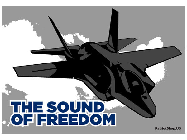 The Sound of Freedom sticker - F35