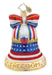 Radko Freedom Bell ornament