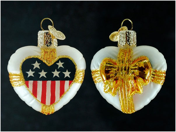 Patriotic Remembrance Heart ornament