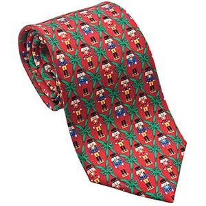 Nutcracker Christmas tie - red