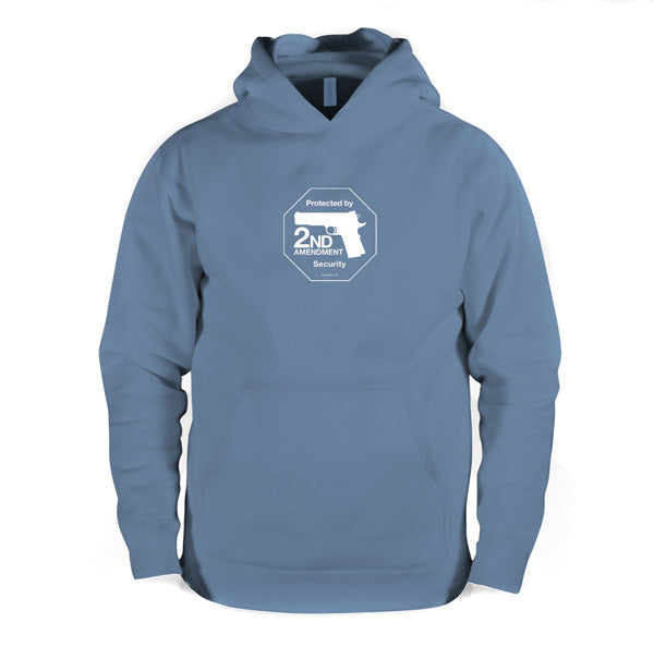 Second Amendment hooded sweatshirt - Indigo Blue