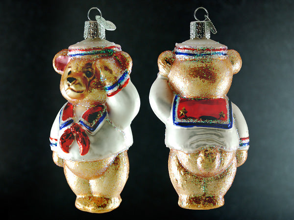 Patriot Sailor Bear ornament-tan