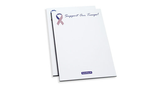 Support Our Troops notepads
