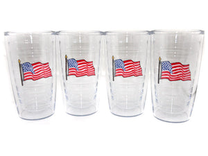Flag Tervis - 16 oz. set of 4