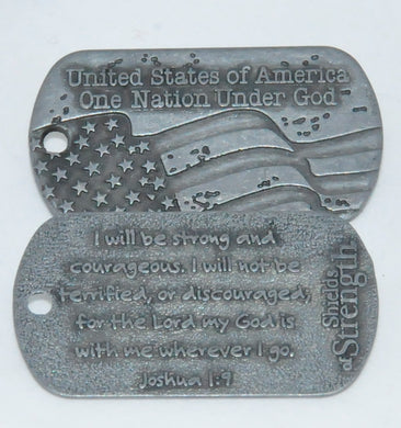 Joshua Shield of Strength - rugged pewter