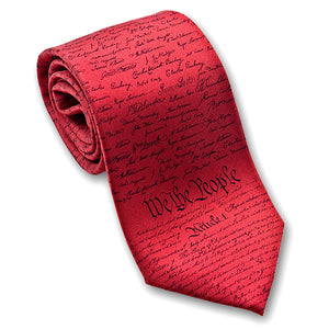 We the People tie -  red with black