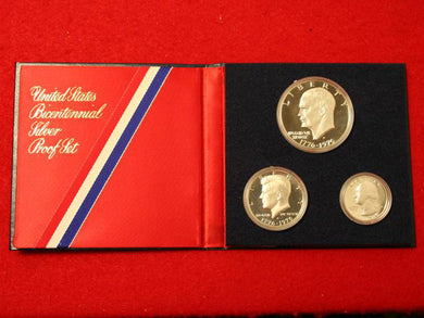 1976 Bicentennial 3-Piece Silver Proof Set