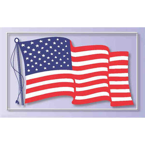 Waving Flag cling - extra large