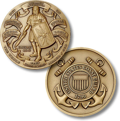 Bronze Armor of God, USCG coin