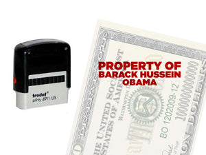 Property of Barack Hussein Obama stamp