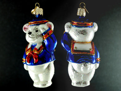 Patriot Sailor Bear ornament-white