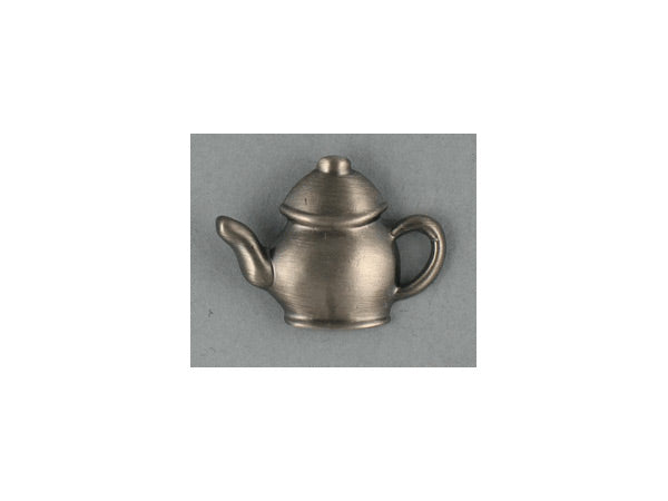 Teapot lapel pin - pewter