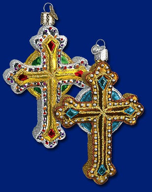 Jeweled Cross ornament