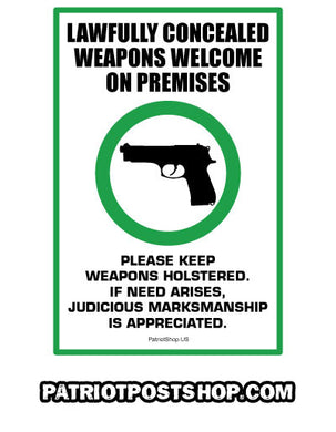 Guns Welcome sticker