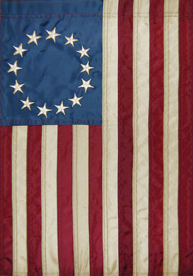 Betsy Ross embroidered garden flag