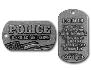 Police Shield - Joshua rugged pewter