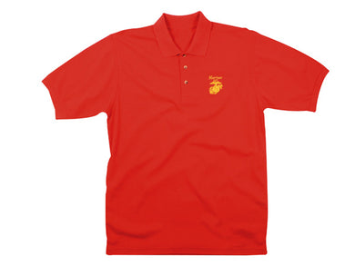 Marine golf shirt - red