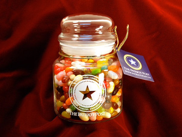 The Patriot Jelly Belly Jar - 49 Flavors or Camo Beans