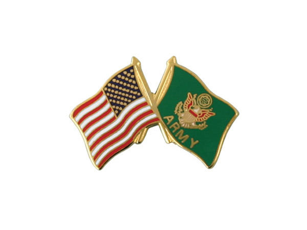 Army Crossed Flag pin