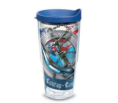 Navy Anchor Wrap Tervis - 24 oz.