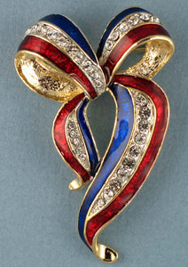 Red, White and Blue Remembrance brooch