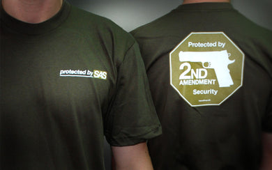 Second Amendment Security T-shirt -- Army green