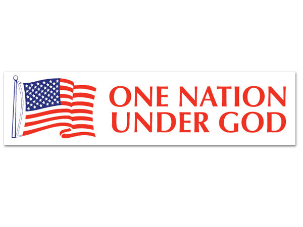 One Nation Under God sticker