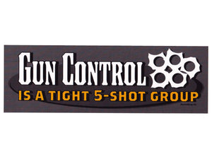 New Gun Control sticker