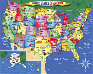 United States of America puzzle - 300 pc. children's puzzle